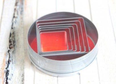 Ausstecher Set - Quadrat